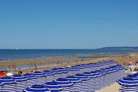 Les cabines de plage de Cabourg